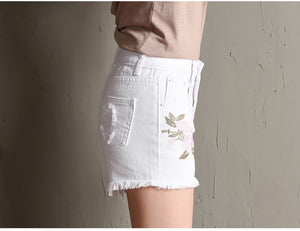 White Denim Ripped Shorts | New Arrival 2018 - esstey