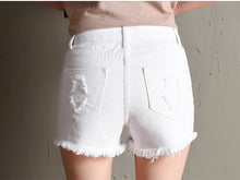 Load image into Gallery viewer, White Denim Ripped Shorts | New Arrival 2018 - esstey