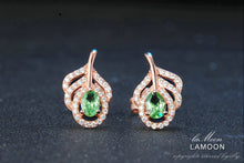 Load image into Gallery viewer, Classic Leaf Green Peridot stud Earrings | New Arrival 2018 - esstey