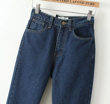 Load image into Gallery viewer, Vintage High Waist Loose Trousers | Classic Denim Jeans - esstey