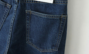 Vintage High Waist Loose Trousers | Classic Denim Jeans - esstey