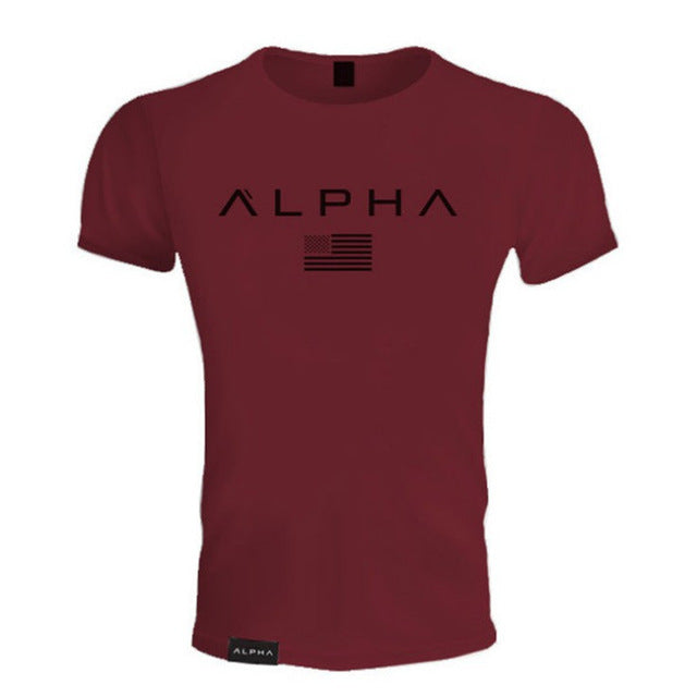 Alpha T-Shirt for Workouts and training sessions - Men Fitness bodybuilding Shirt
