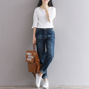 Comfortable High Waist Denim Trousers | New Arrival 2018 - esstey