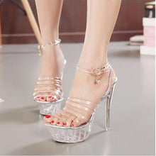 Load image into Gallery viewer, New Erotic Pumps for Women High Heel & Transparent Sandals - Women Party Shoes - esstey