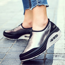 Load image into Gallery viewer, Stylish Flat Platform Shoes | Slip On For Ladies - esstey