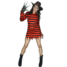 Load image into Gallery viewer, Couple's Freddy killer costumes with claw Halloween Dress - esstey