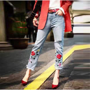 Stunning Plus Size Embroidery Denim Jeans | New Arrival 2018 - esstey