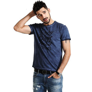 Men Good Times T Shirts  with Short Sleeve | Cotton Slim Fit  Letter Tees Tshirt For him - esstey
