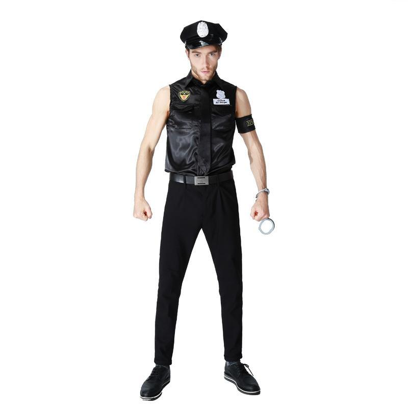 Police Cosplay Costume for Cpuples Dress Uniform Policewomen & men For Halloween - esstey