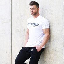 Load image into Gallery viewer, Men Cotton Gym Workout T-Shirt Short Sleeves - esstey