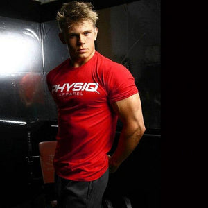 Men Cotton Gym Workout T-Shirt Short Sleeves - esstey