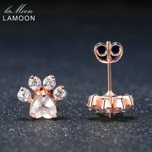 Load image into Gallery viewer, Bearfoot Rose Quartz Stud Earring | New Arrival 2018 - esstey
