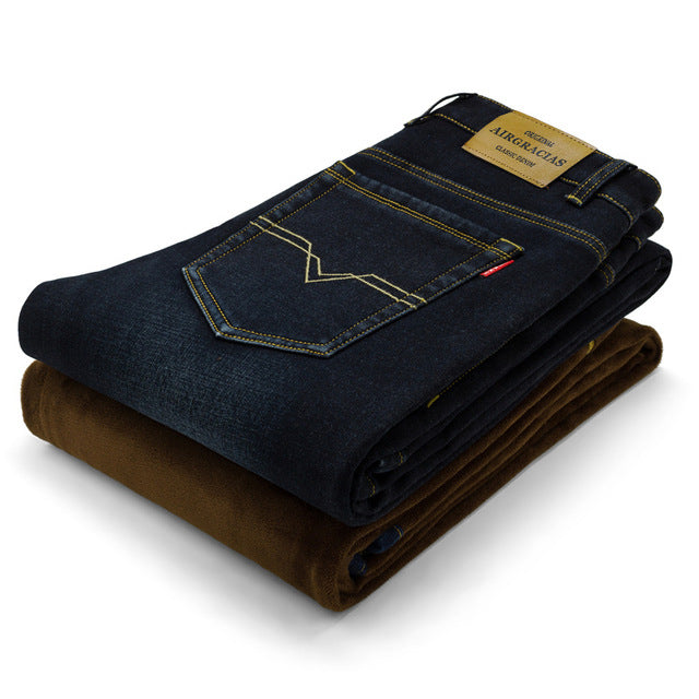 Men's Winter Stretch Warm Jeans | New Arrival 2018
