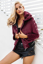 Load image into Gallery viewer, Velvet Cotton Padded Jacket for Women - Wine Red & Navy Blue - esstey