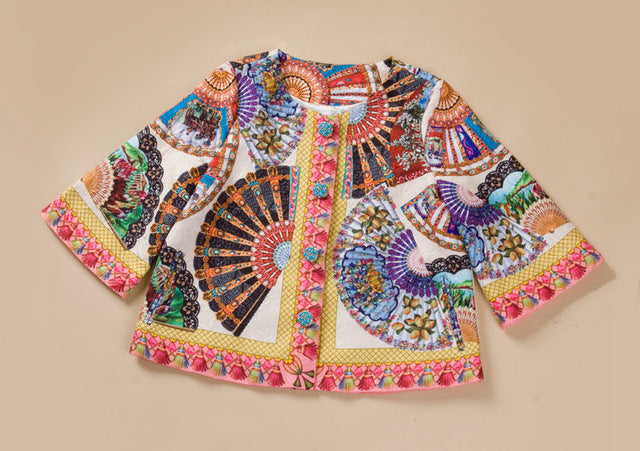 Beautiful Button Taseel Printed Jacket | New Arrival 2018 - esstey