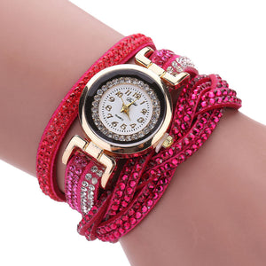 Luxury Crystal Watch with Gold Bracelet | Rhinestone Watch - esstey