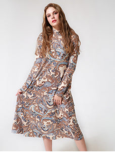 Women party dress unique printed designer design full sleeves - esstey
