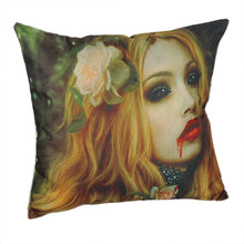 Load image into Gallery viewer, Halloween Zombie Print Pillowcase Linen Cotton Sofa Cushion Cover Home Decor - esstey