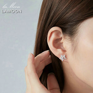 Snowflake Shaped Stud Earrings | New Arrival 2018 - esstey