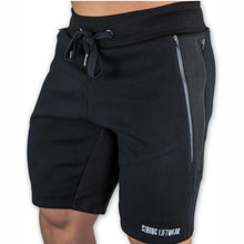 Load image into Gallery viewer, Mens Slim Fit Cotton Shorts Made For Daily Workout - Black Color - esstey