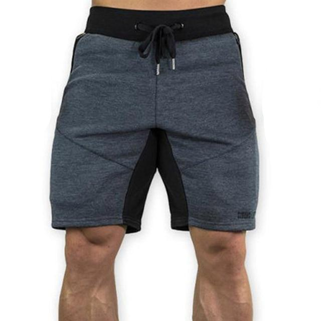 Mens Slim Fit Cotton Shorts Made For Daily Workout - Dark Gray Color - esstey