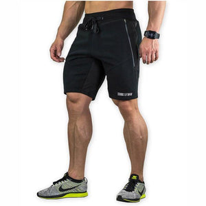 Mens Slim Fit Cotton Shorts Made For Daily Workout - Black Color - esstey