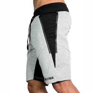 Mens Slim Fit Cotton Shorts Made For Daily Workout - Light Gray Color - esstey