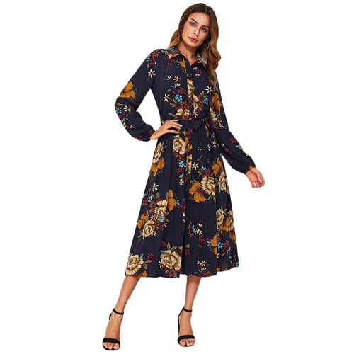 Women Stylish Floral Print Designer Dress - esstey