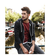 Load image into Gallery viewer, Men Casual Zipper Hoodies Kangaroo Pocket Slim Fit - esstey