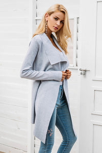 Women's Coat Soft  Casual Sweater Pull Outerwear | Sash Elastic Cardigan - esstey