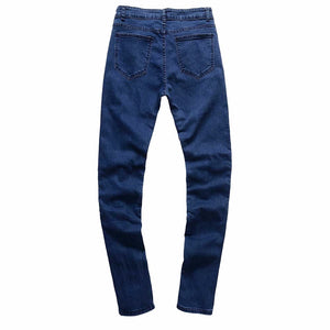 Men's Ripped Slim Fit Vintage Denim Jeans - esstey