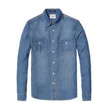 Load image into Gallery viewer, Long Sleeve Denim Shirt for Men | New Spring Collection - esstey