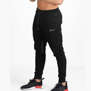 Men cotton sports sweatpants for gym workouts and casual wear - black - esstey