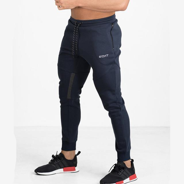 Men sweatpants for gym workouts and casual wear - navy blue - esstey