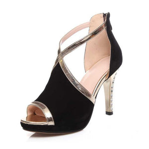Cross-Strap High Heel Sandals for Woman - Office, Date or Party Shoes - esstey