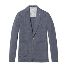 Load image into Gallery viewer, Men Casual Blazers | Men Fashion Thin Linen and Cotton Coat - esstey