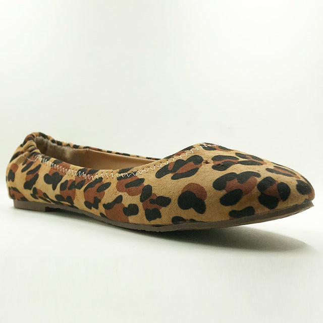 Women Leopard & Snake Pattern Flat Shoes - Loafers European Style Casual & Dress Shoes - esstey