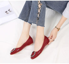 Load image into Gallery viewer, Women Flat Heel Fashion Pumps with Crystal -  Casual & Party-wear - esstey