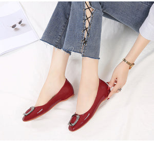 Women Flat Heel Fashion Pumps with Crystal -  Casual & Party-wear - esstey