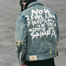 Load image into Gallery viewer, 'Tattered Emotion' Denim Jacket - esstey