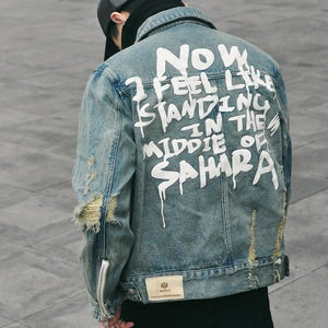 'Tattered Emotion' Denim Jacket - esstey