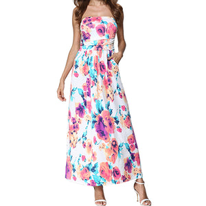 Long Maxi Off Shoulder Beach Dress | Summer Sundress 2018 - esstey