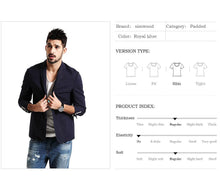 Load image into Gallery viewer, Men Casual Blazers Plaid Fashion Coats - esstey