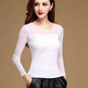 New Sexy & Casual Long Sleeves Blouse for Women | Women Hollow Tops and Multicolored - esstey