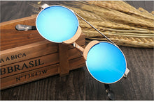 Load image into Gallery viewer, Designer Round Wooden Sunglasses | Summer Collection 2018 - esstey