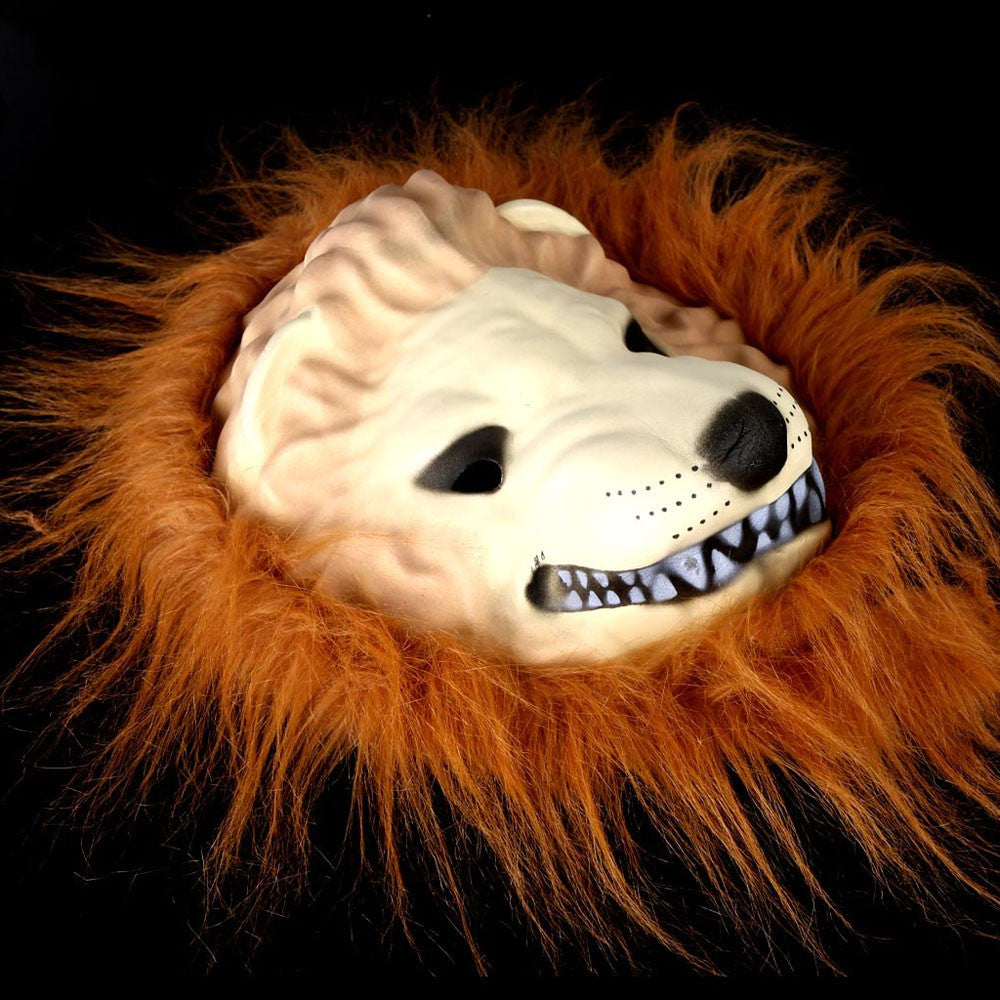 Halloween Great Lion King Mask of Terror Animal Dress Up Simulation Funny Costume - esstey