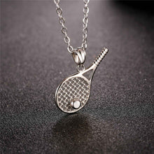 Load image into Gallery viewer, Tennis Racket Pendant Necklace For Men/Women/Couple Gold & Silver - esstey