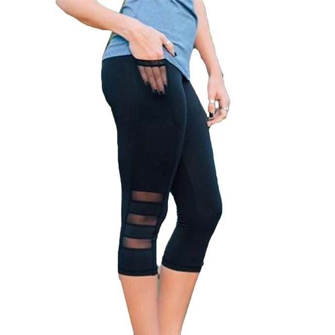 Fitness Leggings Pants for Women | Workout Slim Mesh female Sportswear - esstey
