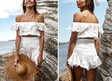 Load image into Gallery viewer, Women Ruffle Off-Shoulder Casual Dress - Summer Casual Beach Wear - esstey