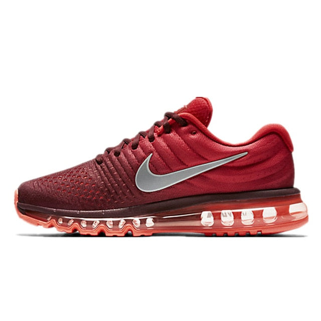 Men Nike Air Max Breathable Running Shoes - Red - esstey